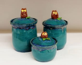 Attirant Ceramic Kitchen Canisters | Etsy