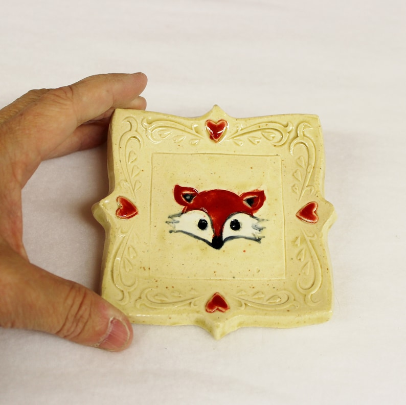 Ring Holder Soap Dish Red Fox Spoon Rest