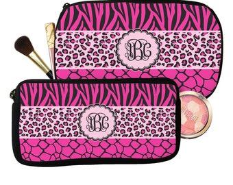 e97b53994e5d Triple Animal Print Makeup   Cosmetic Bag (Personalized)