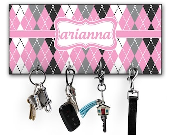 Argyle Key Hanger w/ 4 Hooks (Personalized)