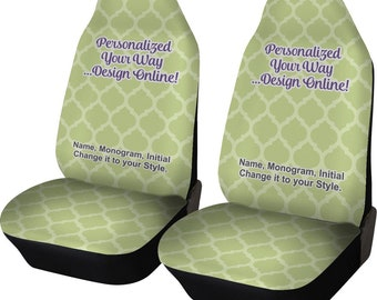Personalized Car Seat Covers (Set of Two)