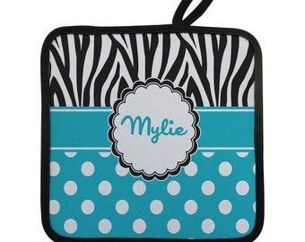 Dots & Zebra Pot Holder (Personalized)