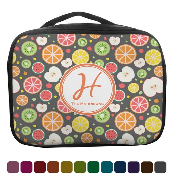 e160b7ec10f4 Apples   Oranges Insulated Lunch Bag Personalized