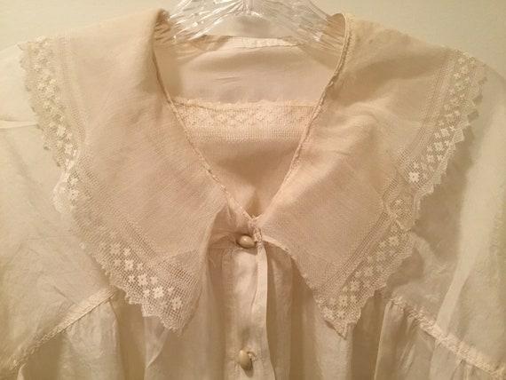 Edwardian/Victorian Blouse, Silk, Lace Antique bl… - image 3