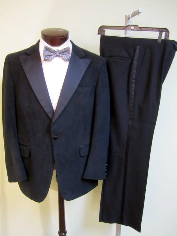 80s Mens Vintage tuxedo, Northridge UltraSuede Tux