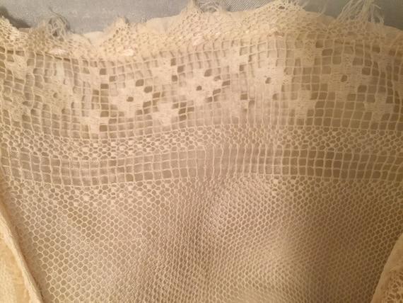 Edwardian/Victorian Blouse, Silk, Lace Antique bl… - image 10