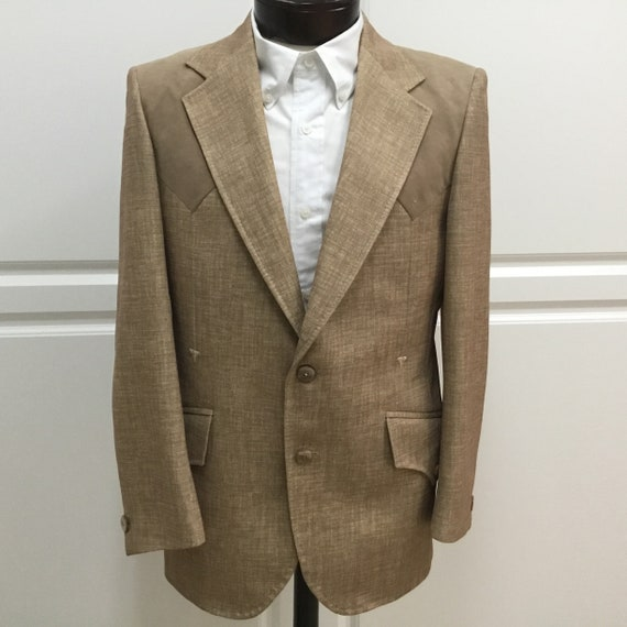Vintage Western 70s sportscoat, Western jacket, 70