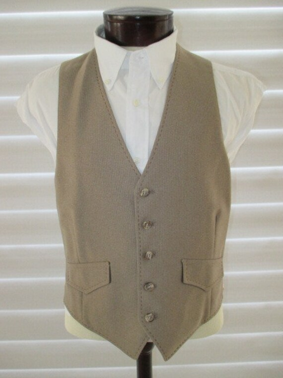 70's Mens Western 3 piece suit, Country Western s… - image 2