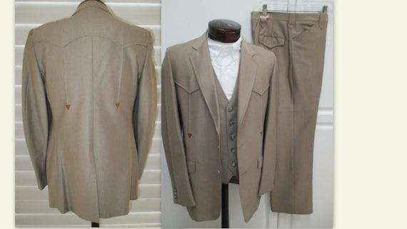 RARE Mens Western 3 piece suit, Rockabilly suit, C
