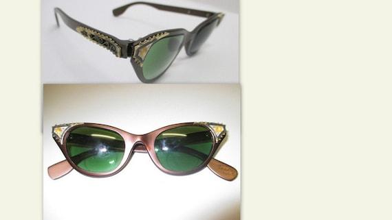 TURA cat eyeglasses, 1950-60s cat eyeglasses, vint