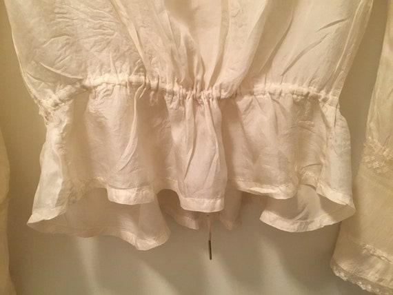 Edwardian/Victorian Blouse, Silk, Lace Antique bl… - image 9