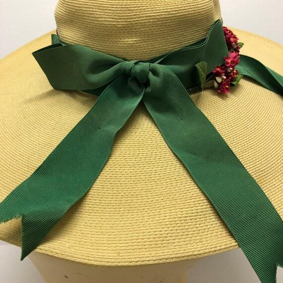 1940-50s Cathay of California Cartwheel straw hat… - image 8
