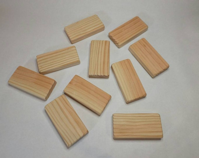 2 x 4 inch by 3/4 inch Square Blocks, All Natural, Unfinished or Finished, Sanded Edges, 2x4 Inch Square Wooden block Set
