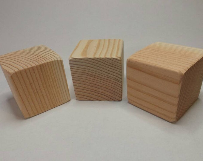 2.5 inch Wood Blocks, Fir, Natural Baby blocks, Baby Shower Activity, Handmade Unfinished wood blocks, Wooden Blocks, craft blocks