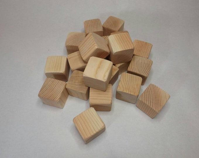 1.5 inch Unfinished Wood Blocks, Baby Blocks, Natural Fir Building Blocks, DIY Baby Shower Activity, Handmade Craft, Wooden Blocks, Wood Toy