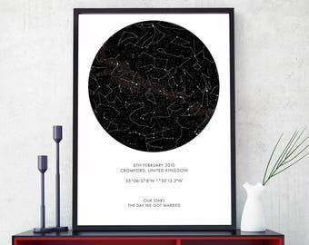 Custom Star Map - Digital File, Digital Star Map, Personalized Star Map, Custom Night Sky Digital File, Custom Sky Map, Custom Star Sky
