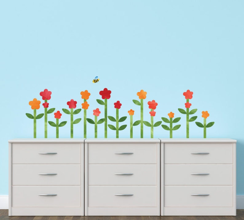 Large Flower Fabric Wall Decals Flower Watercolor Wall Decals