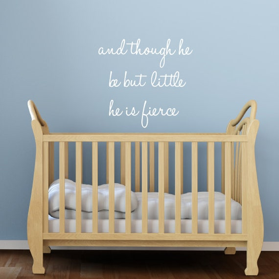 nursery wall decals quote nursery quote fabric wall decals | etsy