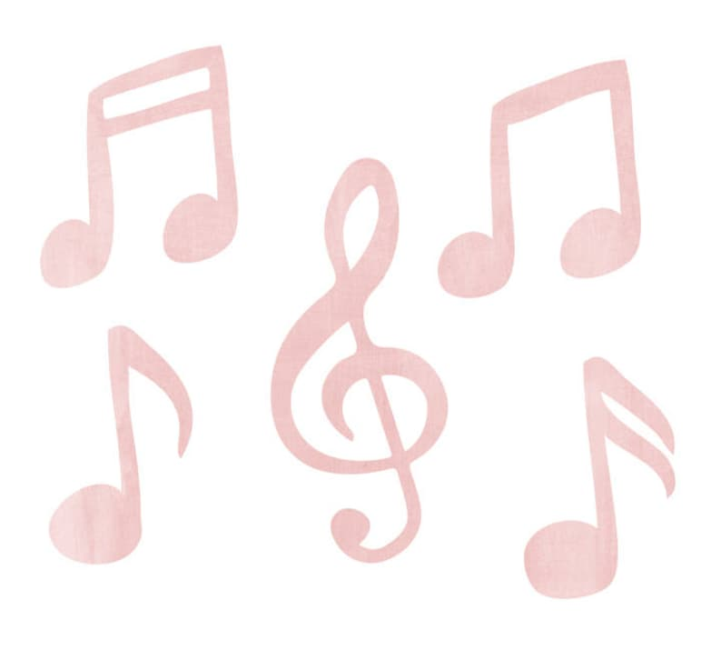 bcd0b7baa4 Music Note Wall Decals Watercolor Musical Notes Fabric Wall