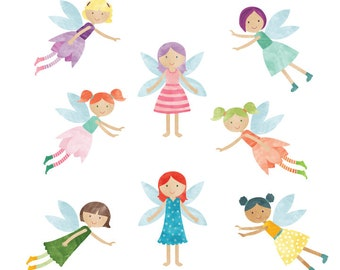 Fairy Wall Decals - Fairy Fabric Wall Decals