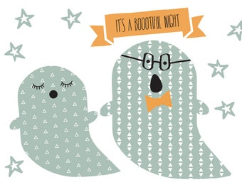 Halloween Wall Decals - Ghost Wall Decals