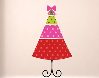 Christmas Tree Wall Decal - Reusable Holiday Wall Decals