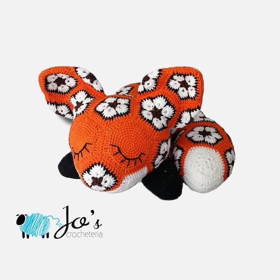 Megan The African Flower Fox Crochet Pattern Etsy