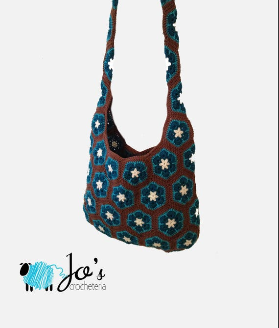 Crochet Pattern African Flower Shoulder Bag Etsy