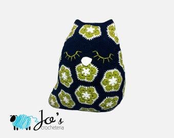 Penny the African Flower Owl Crochet Pattern