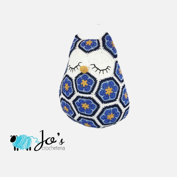 CROCHET PATTERN Maggie the African Flower Owl Crochet | Etsy
