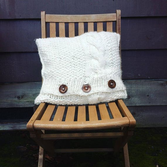 Knit Cabled Pillow PATTERN // Cushion Home Decor