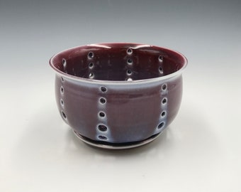 Small Cranberry Colored Berry Bowl and Saucer