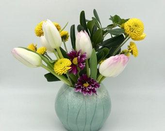 Decorative Multi-Purpose Celadon and White Jar