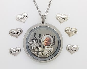 Memory necklace etsy in memory necklace memorial necklace in memory of dad remembrance gift in sympathy remember a loved one in memory necklace photo aloadofball Gallery