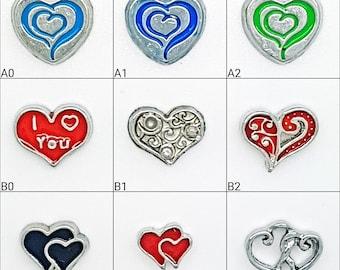 Heart Locket Charm - Heart Charms - I Love You Charms - Floating Locket Charms - Floating Locket Necklace - Memory Locket Charms