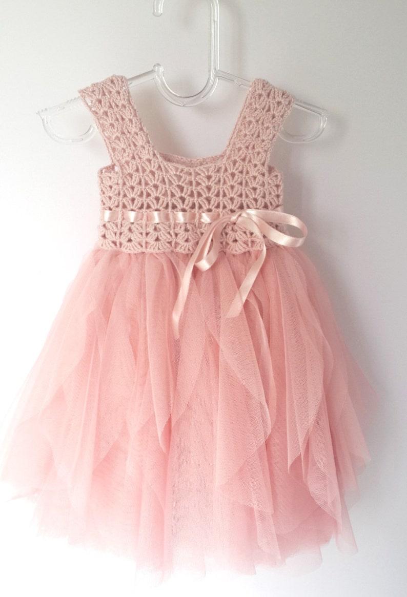 36e262a50e1 Blush rose bébé Tulle robe de robe taille Empire et Top.Tulle