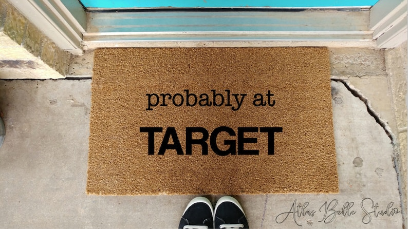 Etsy & Probably at Target doormat funny welcome Target lover shopperu0027s doormat gifts for her