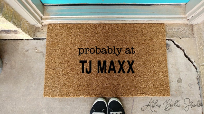 Tj Maxx Wedding.Probably At Tj Maxx Doormat Shopaholic Gift Birthday Gift Wedding Gift Engagement Gift Closing Gift Housewarming Gift Gifts For Her