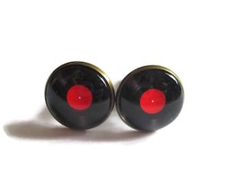 VINYL Record Cufflinks - Vinyl Record accessories - LP Vinyl Record - DJ cufflinks - Music cufflinks - Retro Music cufflinks - Musician Gift
