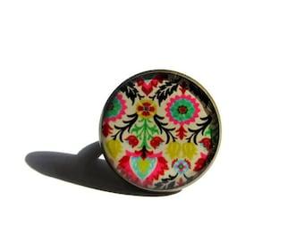 COLORFUL JEWELRY- Girlfriend Gift idea - Boho Ring - Romantic Jewelry - Pink - Colorful  jewelry