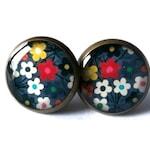 COLORFUL FLOWER EARRINGS - flowers earrings - flower stud earrings - Summer Jewelry - Hypoallergenic - gifts under 20 - Gifts for Teen Girls