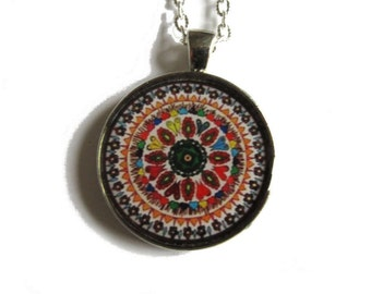 MANDALA NECKLACE - mandala pendant - adjustable jewelry - mandala jewelry - indian jewellery - gift for her