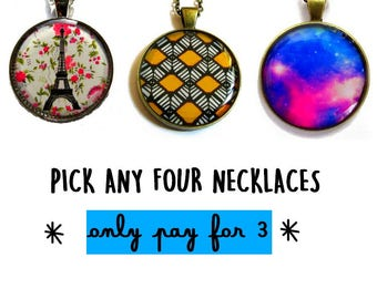 Buy ANY 3 Necklaces, Get 1 FREE - Pack of 4 Necklaces - You pick the designs