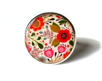 BOHEMIAN FLOWERS RING - Hippie jewelry - Retro jewelry, - retro Hippie flower