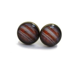 JUPITER EARRINGS STUDS - Space Jewelry - Planet Earrings - Solar System - Jupiter Post Earrings - Cosmic Earrings - Jupiter Stud Earrings