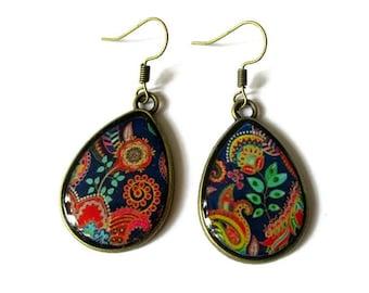 Bohemian TearDrop Earrings - Colorful Earrings - Summer Boho Earrings - clip
