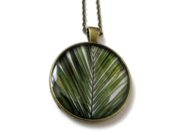 PALM TREE NECKLACE - Palm branch pendant - Palm tree Jewelry - palm jewelry - summer jewelry - leaf - palm tree - summer holiday