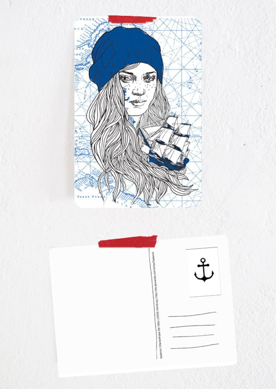 Postcard Bootsfrau Ylva