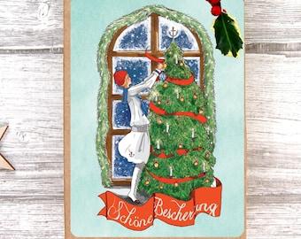 Christmas Postcard Vintage Beautiful Gifts