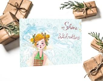 Postcard Merry Christmas my angel